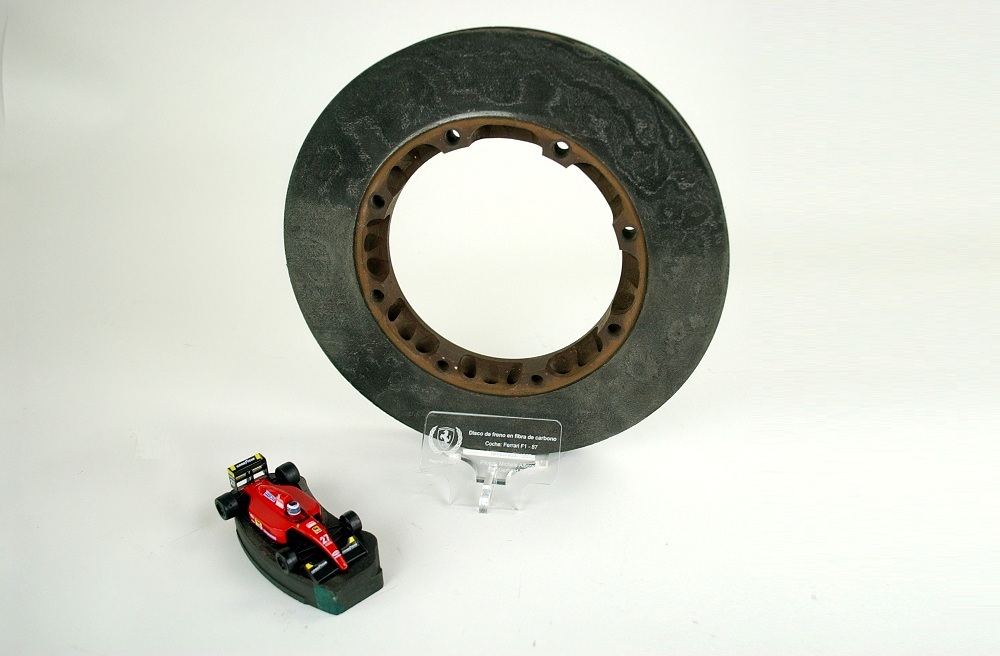 Ferrari F87/88C carbon brake disc and pad