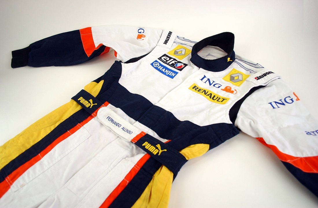 Original 2009 Renault F1 Fernando Alonso race suit