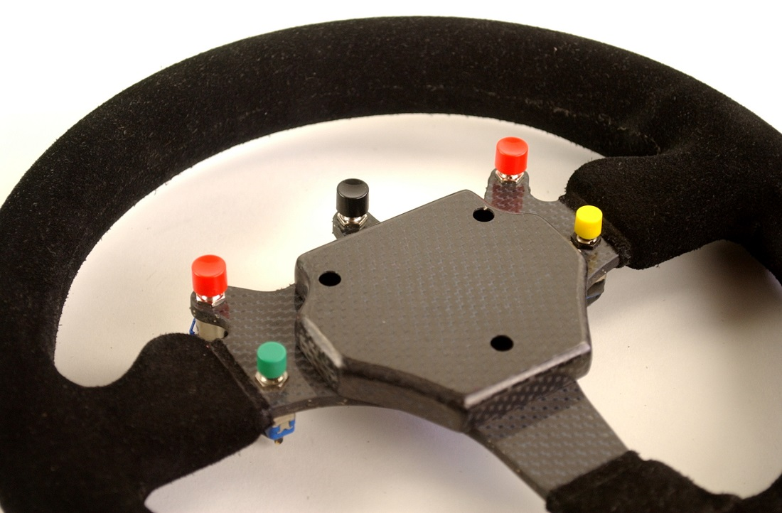 Williams FW16 Ayrton Senna steering wheel - Click Image to Close